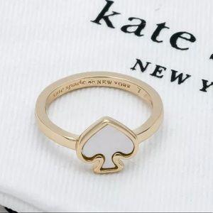 Kate Spade ♠️ NWOT Pearl Spade Ring Size 7